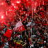Independiente Santa Fe fans celebrate after their team won the Liga Postobon local soccer league tournament match against Deportivo Pasto in Bogota, Colombia. Photo / AP