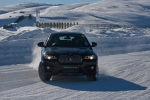 Snowbound drifting during last year's BMW Alpine xDrive Experience near Queenstown gets owners and enthusiasts in control on slippery surfaces. Photo / Supplied