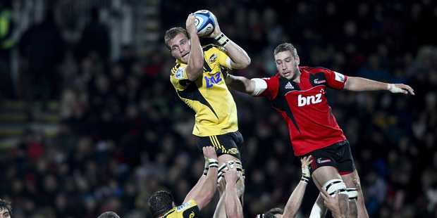 Brad Shields (left) is perhaps the perfect replacement for Jerome Kaino.  Photo / Getty Images