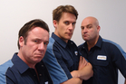 (From left) Jason Hoyte, Jeremy Wells, and Leigh Hart from the Comedy Central TV series Olympico. Photo / Supplied