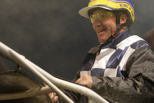 Frank Cooney doesn't remember the accident but has already asked to have his helmet fixed so he can drive his horse again. Photo / Supplied
