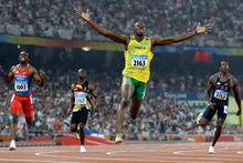 Reigning Jamaican sprint king Usain Bolt will face huge competition at the London Olympics from compatriot Yohan Blake.