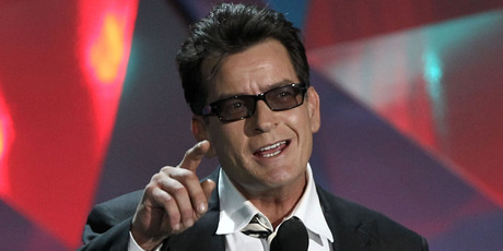 Charlie Sheen onstage at the MTV Movie Awards on June 3, 2012 in Los Angeles. Photo / Matt Sayles