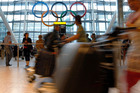 London's Heathrow airport, where inexperienced staff are manning passport desks. Photo / AP