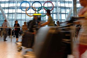 London's Heathrow airport, where inexperienced staff are manning passport desks. Photo / AP