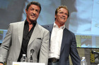 Sylvester Stallone and Arnold Schwarzenegger attend The Expendables Panel at Comic-Con on July 12, 2012 in San Diego. Photo / AP