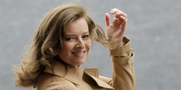 Valerie Trierweiler caused a storm by supporting a rival of Francois Hollande's former partner. Photo / AP