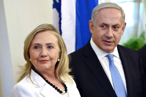 Secretary of State Hillary Clinton meets with Israeli Prime Minister Benjamin Netanyahu in Jerusalem, Israel. Photo / AP