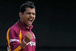 West Indies' spinner Sunil Narine. Photo / AP