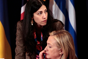 Huma Abedin, top, deputy chief of staff and aide to Secretary of State Hillary Rodham Clinton. File photo / AP