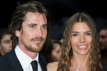 Christian Bale and Sandra Bale at the London premiere of The Dark Knight Rises. Photo / AP