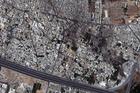 Satellite image provided by DigitalGlobe of the Qabun neighbourhood in Damascus. Photo / AP