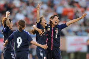 Japan's world champion women's football team has taken exception to flying economy while their male counterparts sat in business class on a flight to Europe for the Olympics. File photo / AP