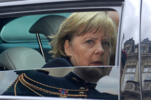 German Chancellor Angela Merkel wants conditions on rescue measures. Photo / AP