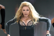 Madonna's use of a swastika during a show in France left the audience unimpressed. Photo  / AP