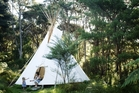 Find your inner-Indian and camp in a tipi at Raglan's Solcape retreat.