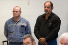 Tony Campbell (left) and Russell Mendoza appear in the Warkworth District Court. Photo / NZ Herald