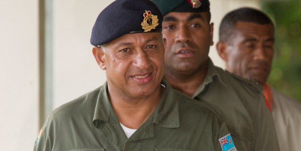 Fiji's self-appointed prime minister Commodore Frank Bainimarama has been the target of an alleged assassination plot. Photo / File