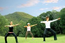 Tai chi classes under the open sky teach guests eight perfect movements over a week. Photo / Supplied 