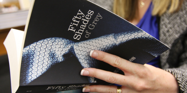 The 'Fifty Shades' erotic trilogy makes number five on Whitcoulls' most popular books list. Photo / APN