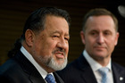 Maori Party co-leader Pita Sharples (front) has expressed anger at Prime Minister John Key's comment about the Waitangi Tribunal. Photo / Mark Mitchell
