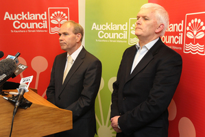 Auckland mayor Len Brown and council chief executive Doug McKay are bosses, not firsts among equals.  Photo / Greg Bowker