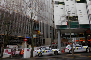 Jarrod Monkley was gravely injured when he fell six storeys from a Auckland University of Technology building which he had been working on for only a month. Photo / Greg Bowker