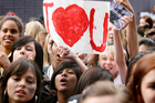 The 18-year-old Canadian singer-songwriter was mobbed by hordes of supporters on his last visit, in April 2010.  Photo / Natalie Slade