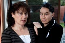 James Takamore's partner Denise Clarke, and daughter Jenna. Photo / Simon Baker