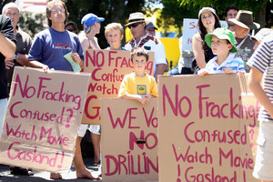 Anti-fracking protestors in Napier earlier this year. Photo / Paul Taylor