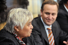 Tariana Turia  of the Maori Party and Prime Minister John Key. File photo / NZPA