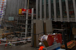 The construction site at AUT's new design and creative technologies building where the man fell. Photo / Greg Bowker