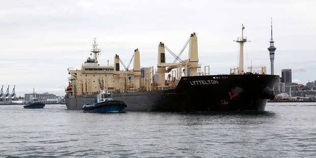 MV Lyttelton carrying 32,250 tonnes of raw sugar. Photo / Supplied