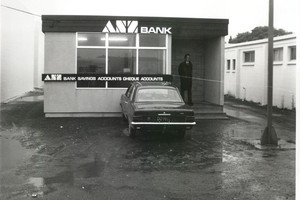 The ANZ Bank where Howard Percy was killed in 1976. File Photo / Supplied
