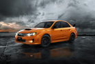 The Aussies get the WRX in tangerine orange, a colour Subaru has reserved just for them.