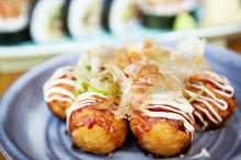 Octopus balls, takoyaki, at Taiko. Photo / Richard Robinson
