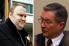 Kim Dotcom, left, and Judge David Harvey, who has surrendered his role in the extradition case against Dotcom after controversial comments about the US. Photos / File 
