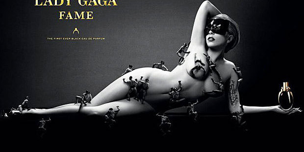 Lady Gaga's racy ad for her fragrance Fame. Photo / Stephen Klein/Supplied