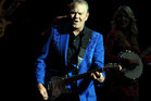 Glen Campbell, seen here performing at the Las Vegas Hotel in June, has cancelled what would have been his last New Zealand shows. Photo / AP