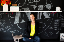Suzie Gregory has a love for chalkboard typography. Photo / Babiche Martens