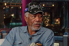 Morgan Freeman shows off his New Zealand cap during an interview with David Letterman. Photo / YouTube