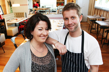 Amanda Williams and Stephen Smith of the Tin Soldier Restaurant: enjoyable, if noisy. Photo / Doug Sherring
