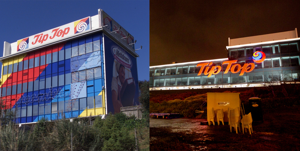 The Tip Top building before (left) and after. Photo / Nicola Topping, Steven McNicholl