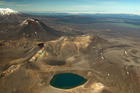 An aerial view over the Tongariro National Park. Photo / Greg Bowker
