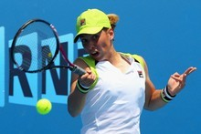 Marina Erakovic in action during her second round match at the Australian Open. Photo / Getty Images