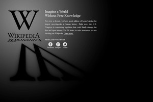 Wikipedia has gone 'dark' for 24 hours in protest of US anti-piracy legislation. Photo / Supplied