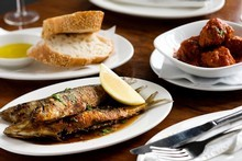 Spanish sardines and meatballs are among the tasty morsels available at the Basque Kitchen. Photo / Babiche Martens