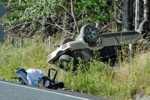 The car zig-zagged before it crashed. Photo / Michael Craig