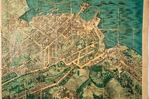 Auckland Museum's 1885-6 map of Auckland shows how reclamation has transformed the downtown coastline. Photo / Supplied