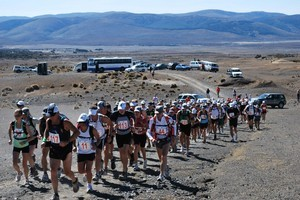 The Tussock Traverse, in the Tongariro National Park, may not be the toughest Ruapehu race, but it still sets a test for all who take part. Photo / Supplied